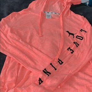 PINK orange hoodie